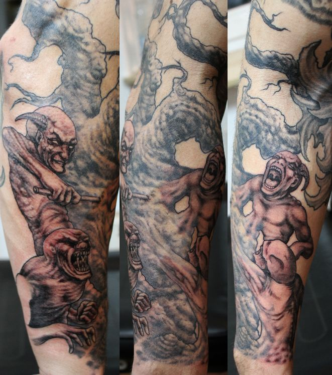 Hölle Tattoo by Thorsten Bechtluft